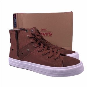 Levi's Side Zip Mid Top Fashion Sneaker Shoes
